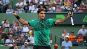 Федерер и Надал са 1/4-финалисти в Маями след двусетови победи