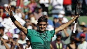 Федерер оцеля срещу Бердих и е на полуфинал