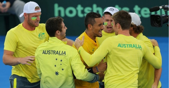 "Австралия се класира на полуфиналите за Купа ""Дейвис"" след успех над САЩ (снимки)"
