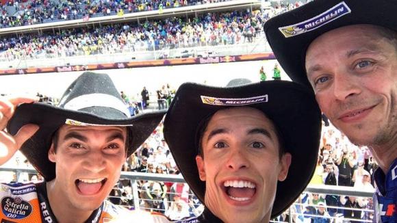 Маркес е господарят на Тексас, но новият лидер е Валентино Роси