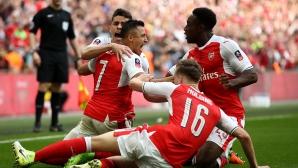Арсенал стигна финала за ФА Къп (видео)