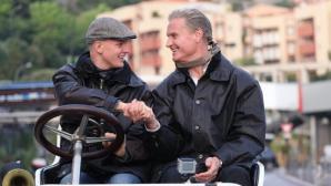 """Втори пилот с фамилията """"Шумахер"""" даде урок на Дейвид Култард"""