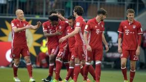 Волфсбург - Байерн 0:3, гледайте тук!