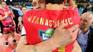 Вили Чернокожев и Перуджа на исторически финал в ШЛ след драма срещу Лубе с Цецо Соколов (снимки)
