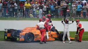 Алонсо отпадна от Инди 500 заради... двигателя, за първи път победи японец