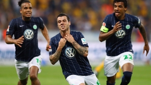 Брилянтен гол остави Волфсбург в Бундеслигата (видео)