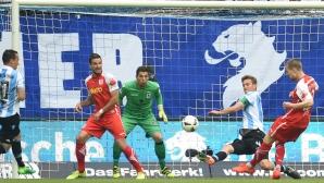 Мюнхен 1860 изпадна от Втора Бундеслига, безредици избухнаха на стадиона