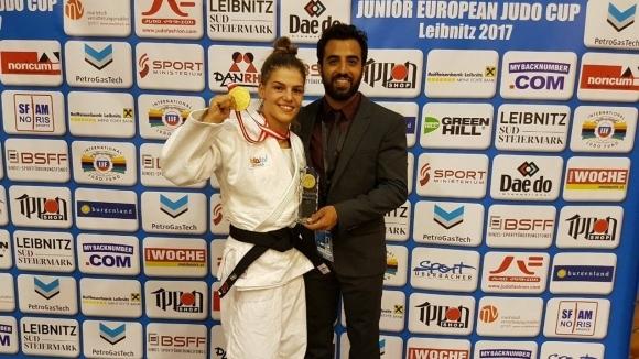 Бетина Темелкова донесе злато на Израел от Европейската купа по джудо в Лайбниц