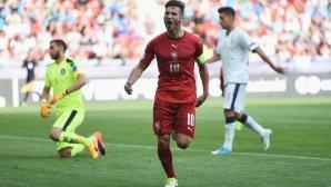 Донарума отнесе три гола от младите чехи