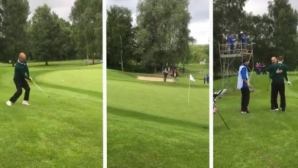 Невероятният голф удар на Гуардиола, след който Гигс го прегърна (видео)
