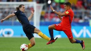 Чили се класира напред, но се натресе на Португалия (видео)