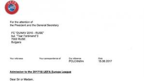Дунав показа писмото от УЕФА, няма никакви нередности
