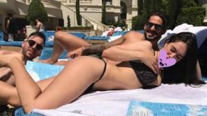 Иско се забавлява с брюнетка в Лас Вегас