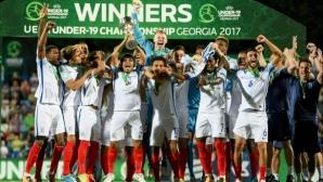 Англия (U19) стъпи на европейския връх, след като надви Португалия (видео)