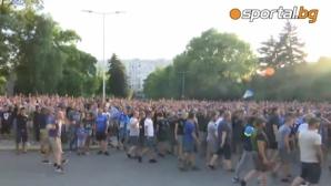 """Мощна подкрепа за Левски пред сектор """"А"""" (видео+снимки)"""