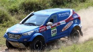 Иванчев и Николов с Hyundai Santa Fe T1 водят на Баха България