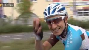 Романтичен колоездач предложи брак в последния етап на Тура