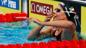 Уникална Федерика Пелегрини детронира Ледецки на 200 метра свободен стил (видео)