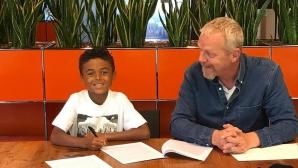 9-годишният син на Клуиверт подписа рекламен договор