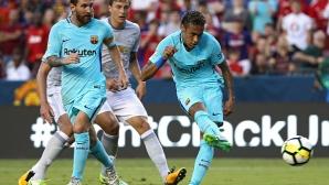 Неймар носи победа на Барселона и над Манчестър Юнайтед