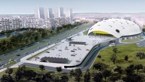"""Министър Кралев инспектира строежа на """"Арена Бургас"""" (галерия)"""