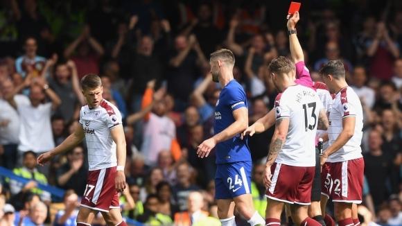 Грубости, нерви и два червени картона провалиха Челси (видео)