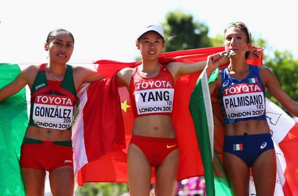Китайка спечели титлата на 20 километра спортно ходене на Световното в Лондон