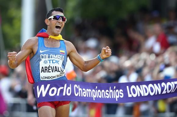Колумбиец спечели титлата на 20 километра спортно ходене на Световното