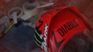 Хорхе Лоренсо със специална каска за ГП на Австрия (видео)