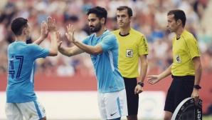 Илкай Гюндоган се надява да се завърне в игра за мача с Ливърпу
