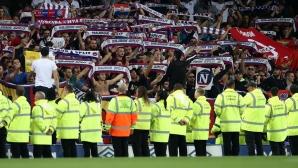 УЕФА започна разследване на ицидентите на мача Евертън - Хайдук