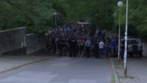 """""""Синьото"""" шествие в Благоевград все пак се състоя (видео)"""
