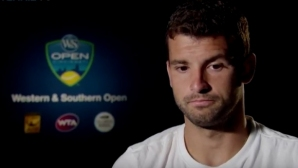 Григор Димитров впечатлен от себе си след победата над Сугита (видео)