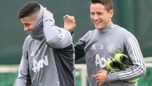 Рохо се появи на тренировката на Ман Юнайтед, Шоу и Йънг вече играха за резервите