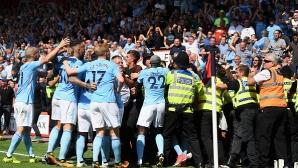 Огромен късмет и гол в 97-ата минута спаси Манчестър Сити (видео)
