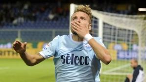 """16-годишен вкара два на Лацио, но Имобиле продължи полета на """"орлите"""""""