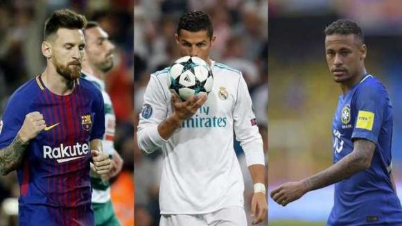 Кристиано, Меси и Неймар са финалистите за FIFA The Best 2017