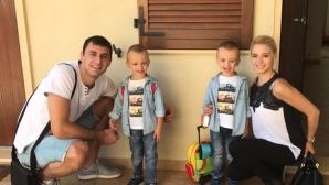 Близнаците на Цецо Соколов тръгнаха на детска градина
