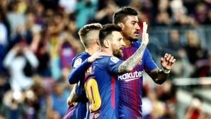 "Меси-шоу зарадва ""Камп Ноу"", 4 гола на Лео за петата поредна победа (видео + галерия)"