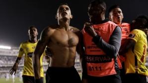 Полицията в Бразилия заключи запалянковци на стадиона