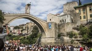 Хънт най-накрая покори стария мост в Мостар