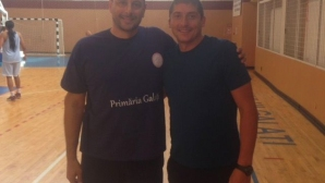 Атанас Митрев на посещение при Николай Желязков в Румъния