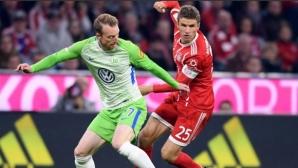 """Волсфбург шокира Байерн и върна два гола за героично реми на """"Алианц Арена"""""""