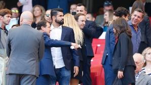 Диего Коща изгледа на живо днешната победа на Атлетико (снимки)