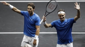Тандемът Федерер - Надал показа класа (видео)