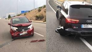 Нищо ново: Бензема пак катастрофира с колата