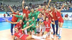 Волейболистките отпразнуваха успеха над Турция с хоро (снимка)