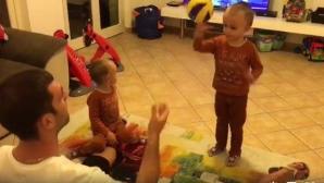 Близнаците на Цецо Соколов започнаха с волейбола (видео)