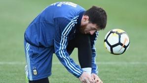 Няма и глътка въздух за Меси - ще играе в контрола за Аржентина