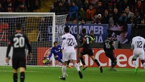 Атлетик Билбао се добра до късметлийска точка (видео)